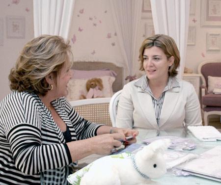 Patrícia Novoa recebe Bebel na Loja Lilly Secret's que fez todo o enxoval de seu espaço  na Casa Cor 2009.