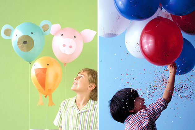 Decoração criativa com balões