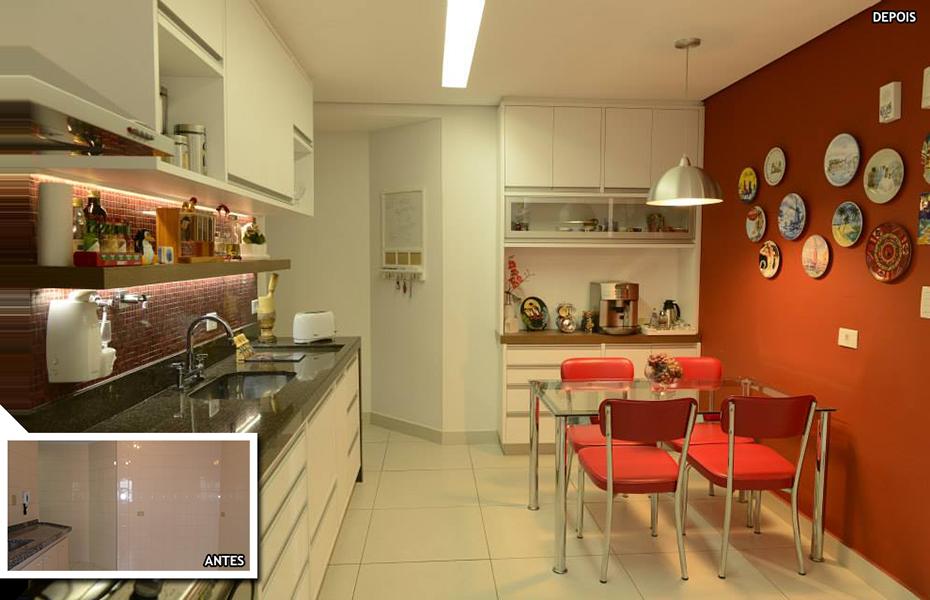 Antes e depois de apartamento de 156 m²