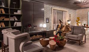 Lounge contemporâneo do Studio Costa Marques