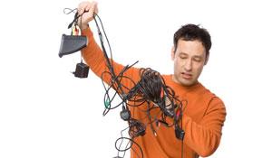 Soluções para organizar fios e cabos