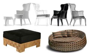Poltronas, puffs e chaises na decoração