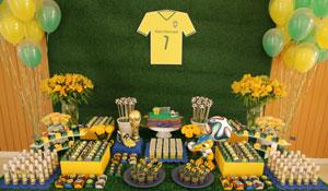 Decoração de festa com tema futebol
