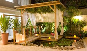 Bambu é a elegância rústica na decoração da casa