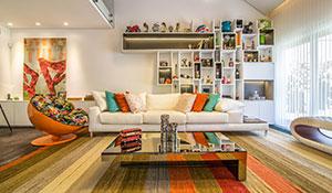 Cores e texturas marcam decoração moderna