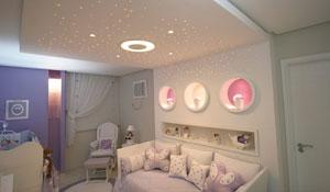 Projetos de decoração com fibra ótica