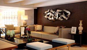 Decoração de loft destaca elementos naturais