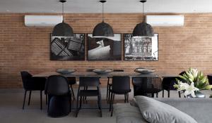 Decoração nova-iorquina em apartamento brasileiro