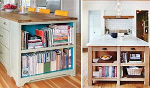 Livros de receita na decoração da cozinha