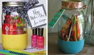 Reutilize potes de vidro como presente para dia das mães