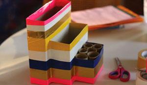 Como fazer um organizador de escritório reutilizando materiais