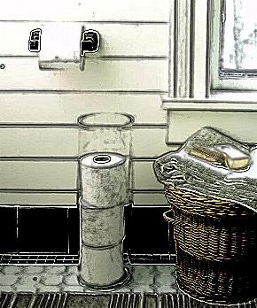 Porta-papel higiênico transparente