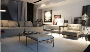 Home theater com decoração prática e funcional