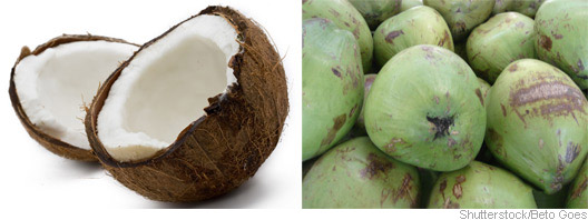 Coco seco e coco fresco