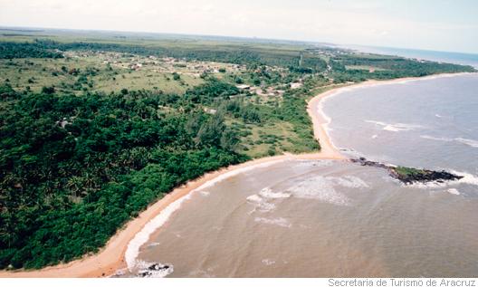 Praia do Sauê, em Aracruz, Espírito Santo