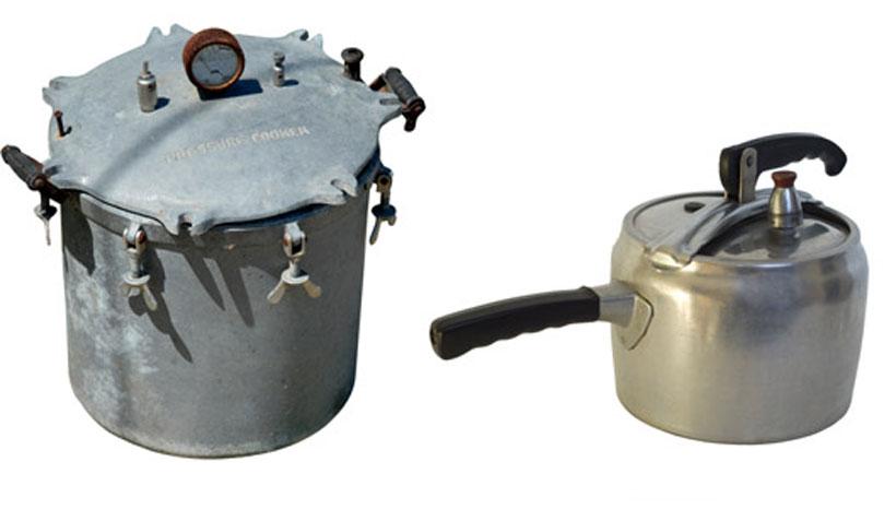 Modelos antigos de panela de pressão