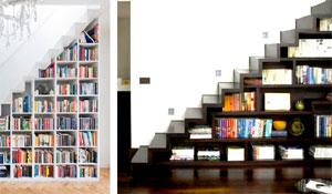 Como aproveitar espaço nas escadas