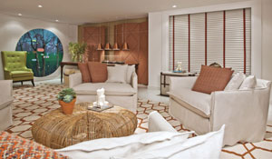 Lounge com decoração arrojada