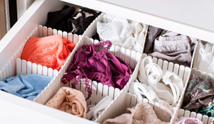 Como organizar roupas íntimas