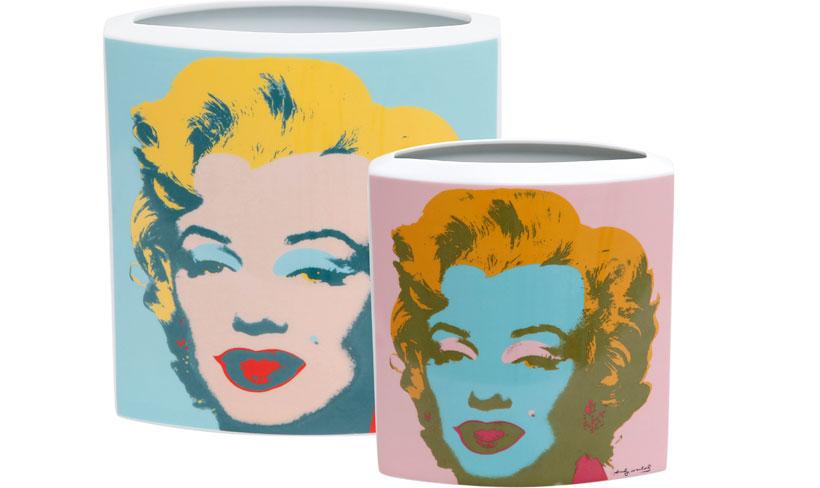 Vaso com estampa de Marilyn Monroe