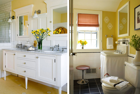 Ambientes com parede amarela