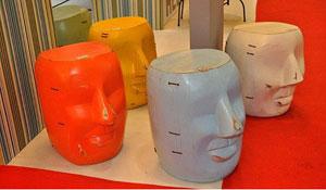 Móveis e objetos de decoração feitos com sobras