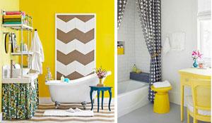 Banheiros coloridos e originais