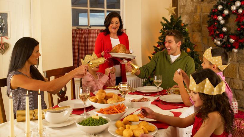 Jantar de natal em família