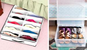 Organizando sapatos com criatividade