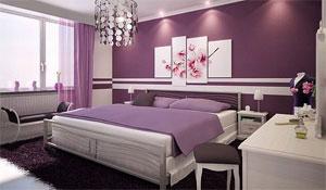 Tons de roxo e lilás na parede