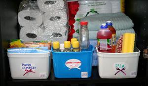 Como guardar e higienizar os produtos de limpeza