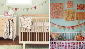 Bandeirinhas na decoração da casa