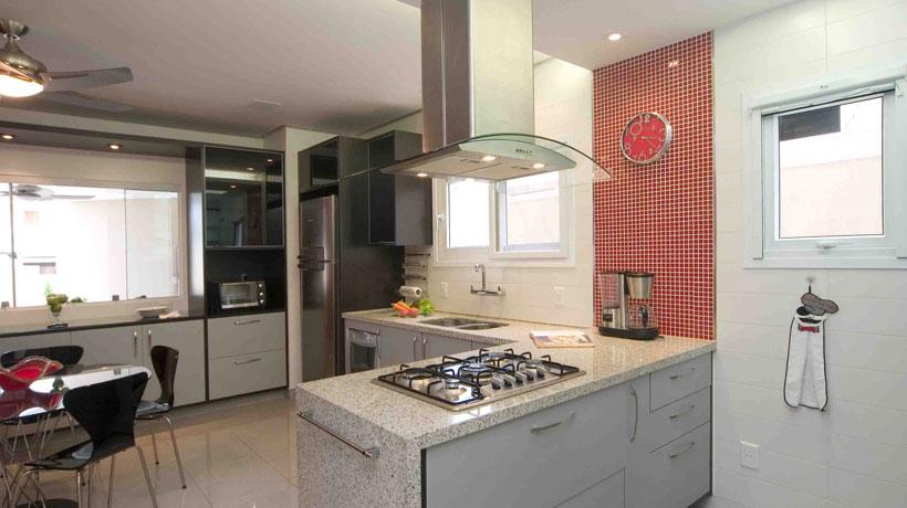 Cozinha ganha espaço com Ilha