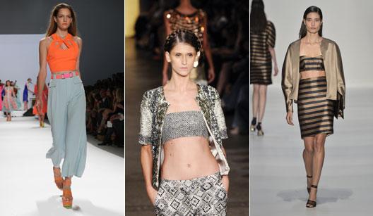 Desfiles nas semanas de moda NY, RJ e SP