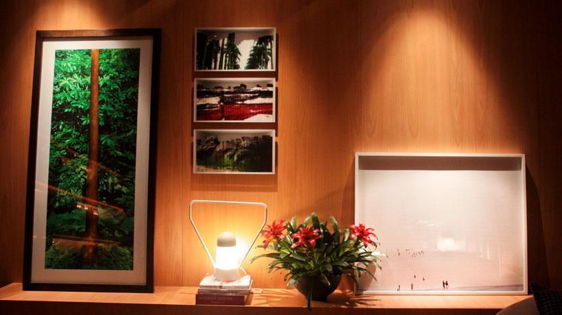 Ambiente decorado com fotografia
