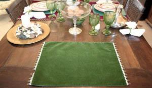 Decore sua mesa para o Natal