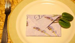 Como dobrar guardanapo em forma de envelope