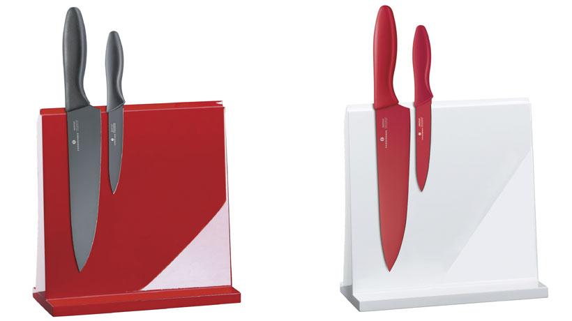 facas com cabo e lâmina coloridos