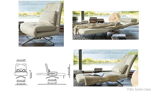 Poltrona/Chaise Beny 3 fases