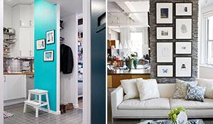 Como aproveitar uma parede pequena na decoração