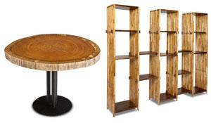 Móveis de madeira sustentável