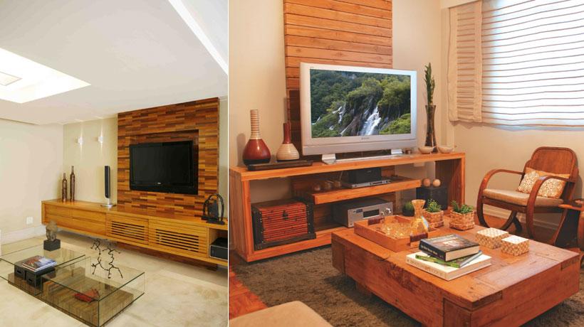 Aplique painéis de madeira na parede