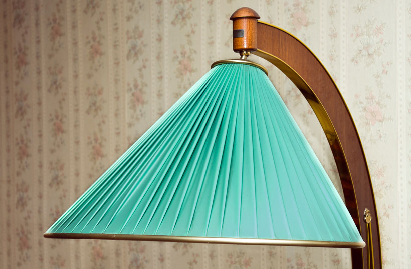 cúpula azul de abajur retrô