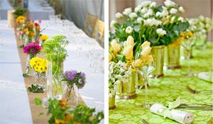 Arranjos naturais para decorar a mesa