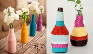 Como transformar uma garrafa num vasinho descolado