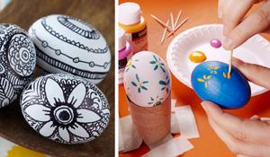Ovos decorados para a Páscoa