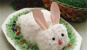 Comidinhas em formato de coelho da Páscoa