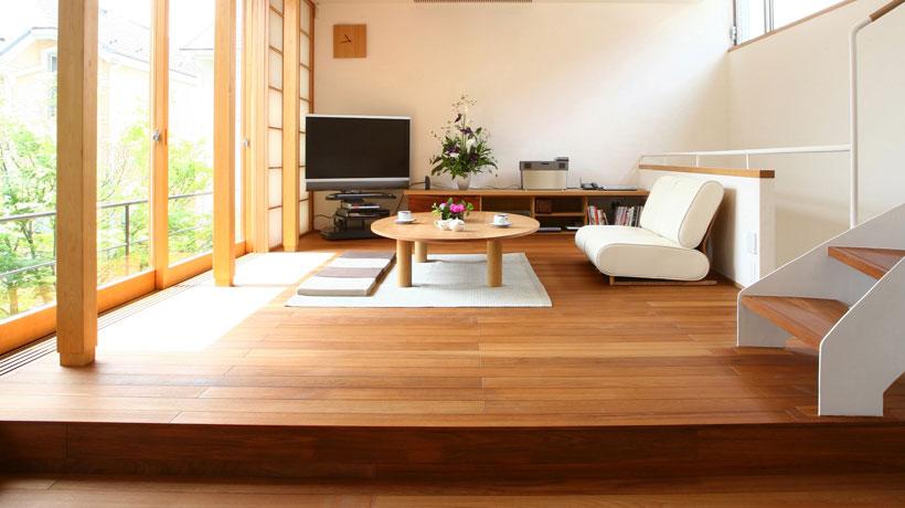 Sala de estar de uma casa