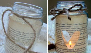Como fazer uma luminária romântica