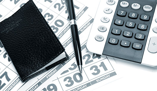 Cuide das finanças em dias estipulados